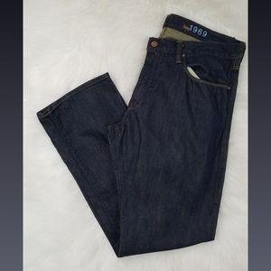 💙2/$20 Gap Men's Straight Dark Wash Jeans 34x30